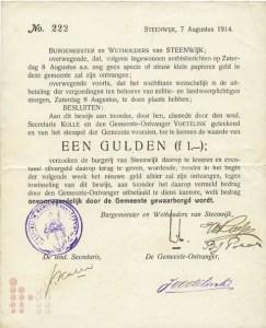 1914 Gulden Steenwijk
