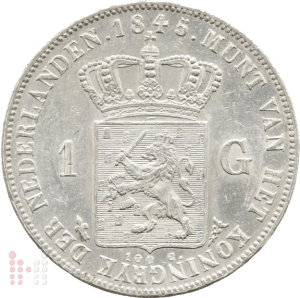1845 gulden met streepje