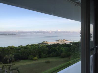 センチュリオンホテル窓から見える朝風景