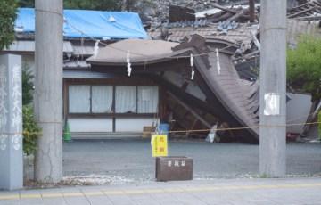 熊本地震で倒壊した熊本大神宮