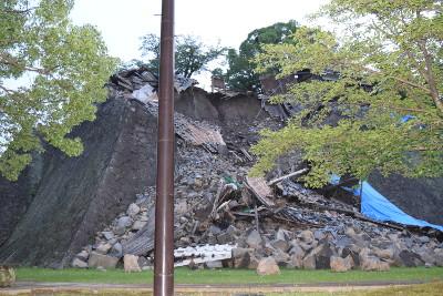 その他の熊本城の石垣が崩れた部分02