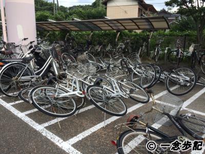 倒れていた自転車