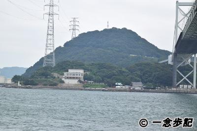 関門海峡を下関側から見た門司