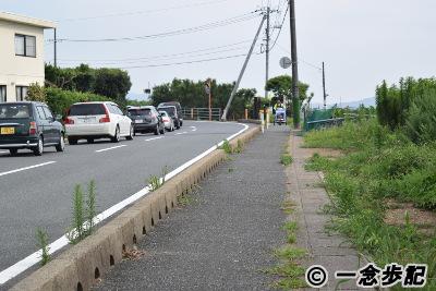 角島大橋へ向かう