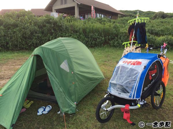 角島大浜キャンプ場にてテント泊