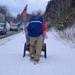 雪の中でも歩く