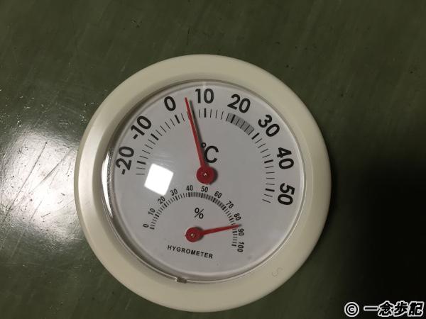 室内の気温4℃