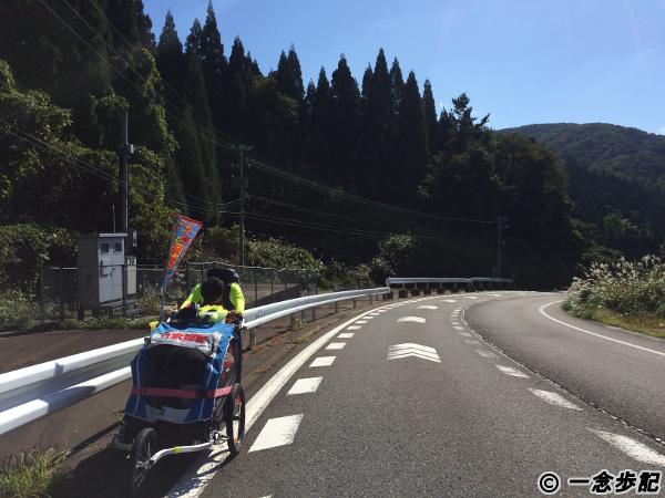 木ノ芽峠へ向かう坂道