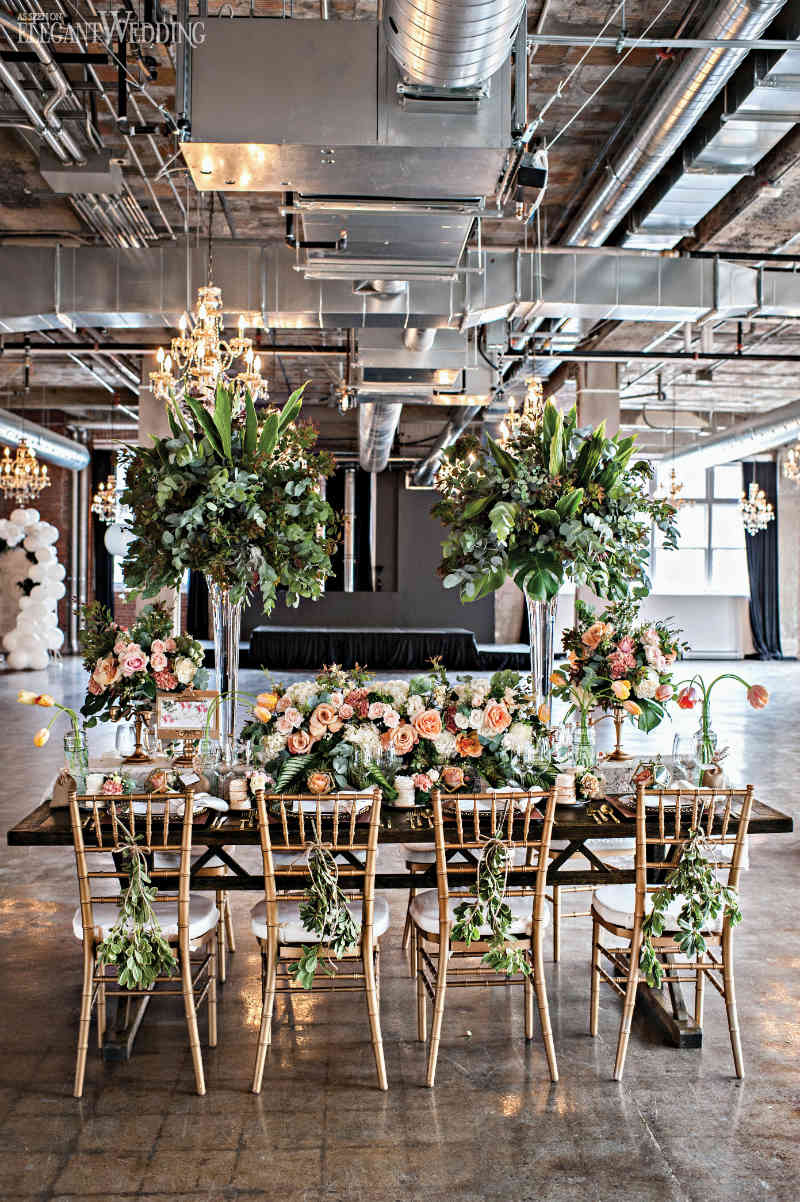 Industrial Chic Garden Wedding Ideas ElegantWeddingca