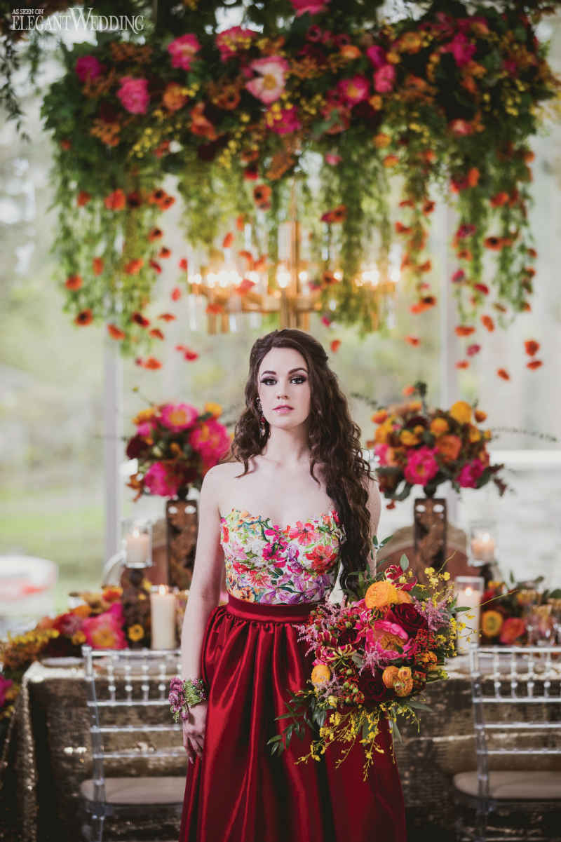 Mystical Red Wedding Theme Elegantwedding Ca