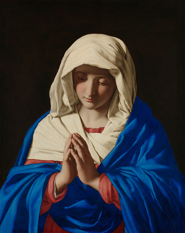 Image of beauty: The Virgin in Prayer by Sassoferrato (Giovanni Battista Salvi da Sassoferrato), c. 1645 [National Gallery, London]