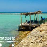 les eaux turquoises de Saint François