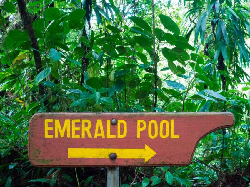 dominique, emerald pool