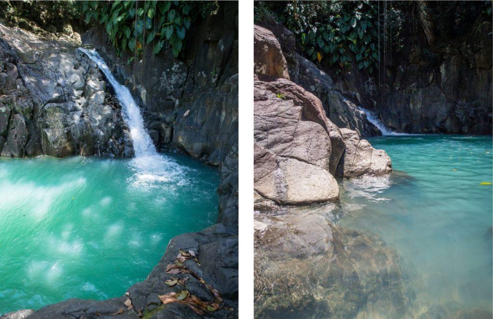 guadeloupe, saut d'acomat, pointe noire, cascade, bassin bleu