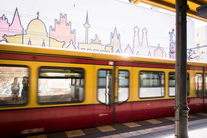 berlin, allemagne, street art, métro, s-bahn