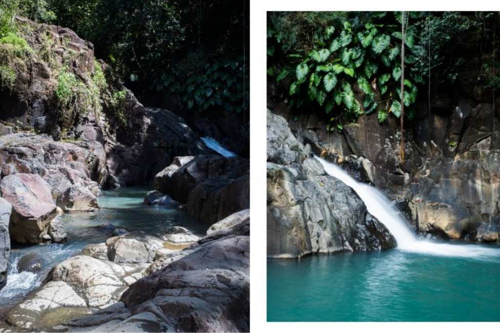 guadeloupe, sauts d'avocat, bassin, cascade, rivière