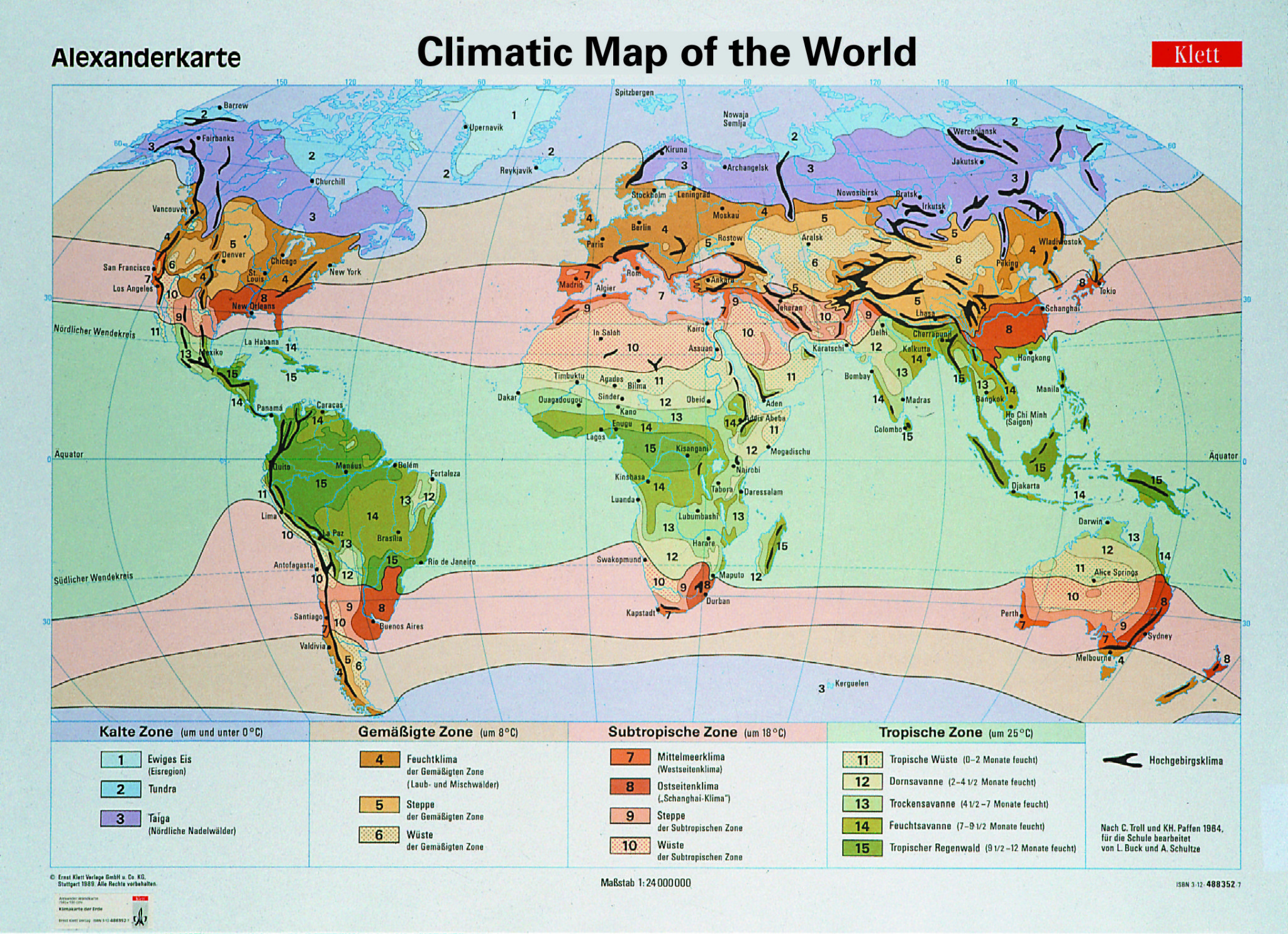 Climatic Map Of The World