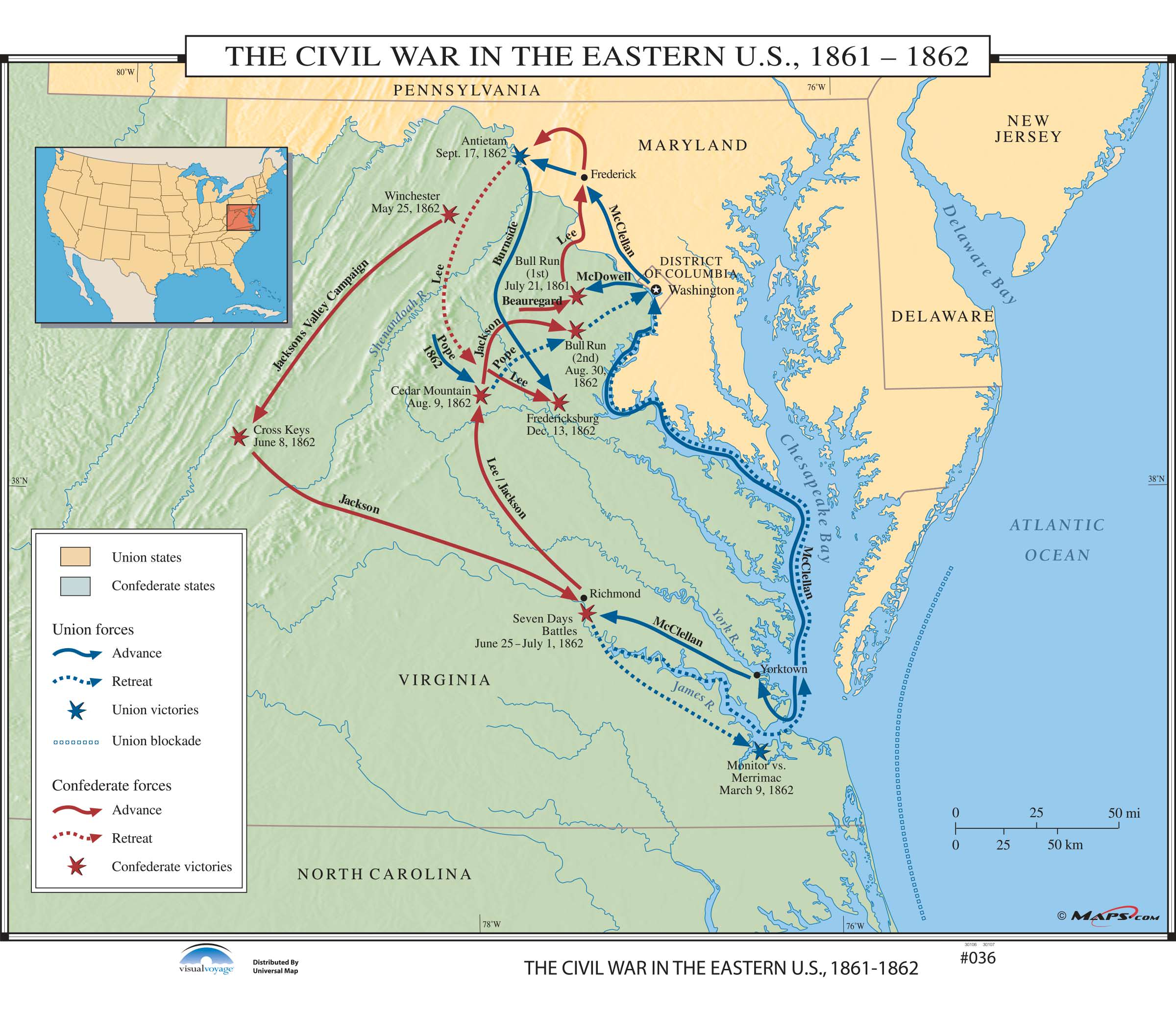 036 The Civil War In The Eastern Us On Roller