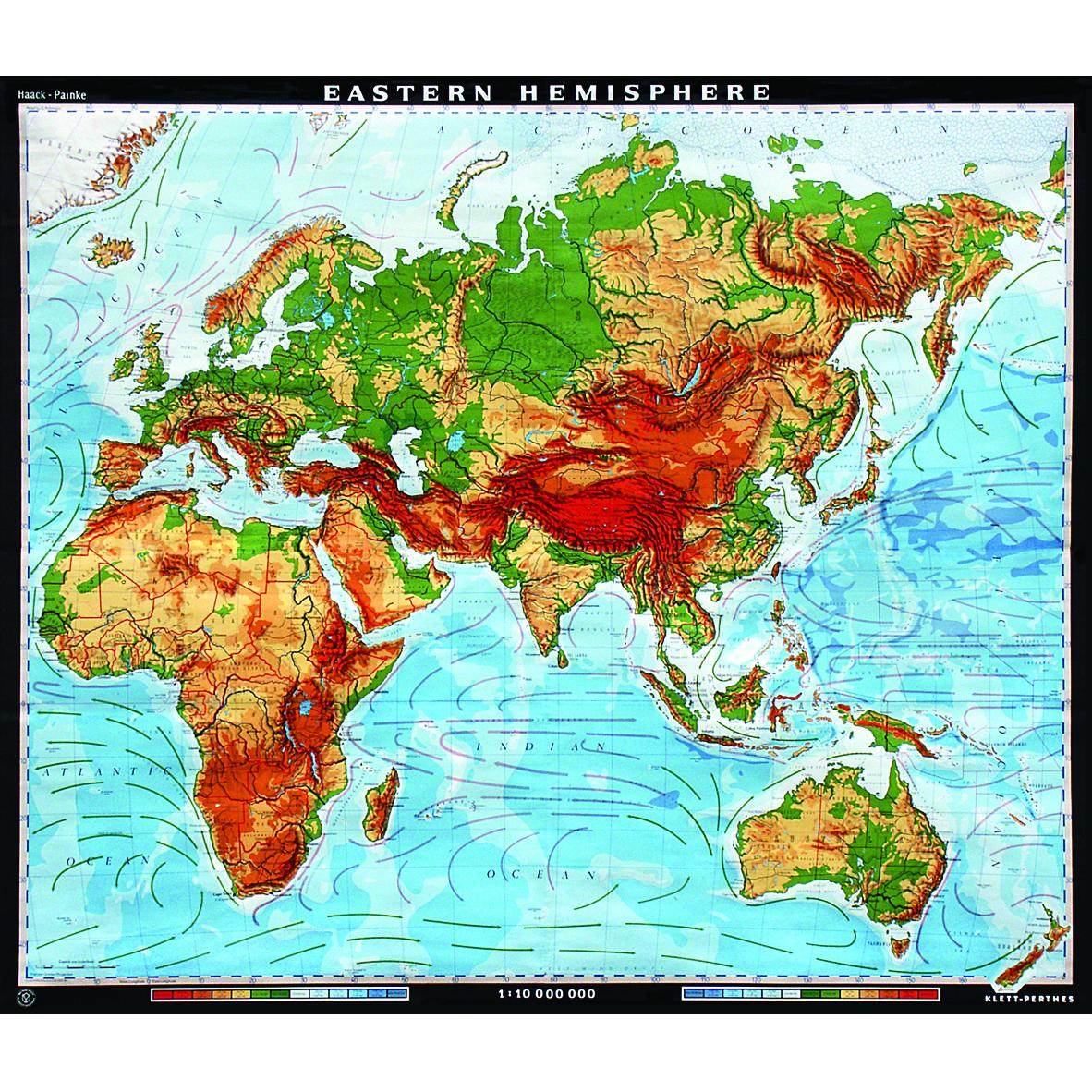 The Eastern Hemisphere Physical Map