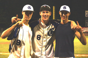 Ryan, Riley, and Stephen celebrate a State Title at Holman Stadium. (photo by 1inawesomewonder, 2010)