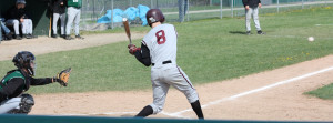 Riley hitting at Dover High School. (photo by 1inawesomewonder, 2009)
