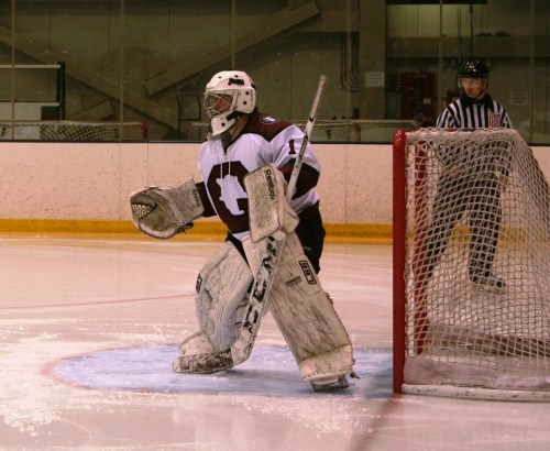 Colin Holt appears ready for anything in net. He was. (c) 1inawesomewonder. (Photo by Charron)