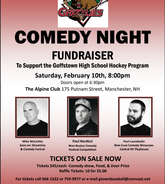 2018 Comedy Night Hockey Fundraiser