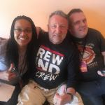 Peter Hook with Matt Isaacs and Tiki Black at Rewind Festival