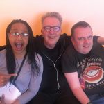 Tom Robinson with Matt Isaacs and Tiki Black at Rewind Festival