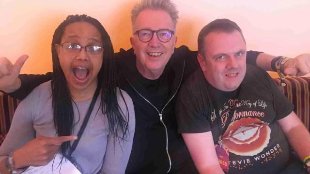 Tom Robinson with Matt Isaacs and Tiki Black at Rewind Festival