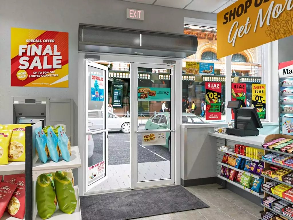 grocery store air curtain applications