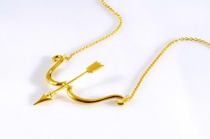 Collier Bow, Vermeil, Corpus Christi, 190€