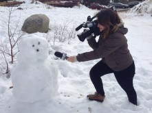 Caméra P2, Micro Sennheiser, Bonhomme de neige à fabriquer avec ses petites mimines