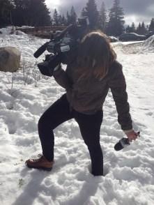 Oui, on s'enfonce un tout petit peu dans la neige aussi...