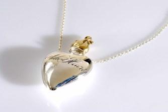 Collier Naked Heart, argent et or, Corpus Christi, 290€