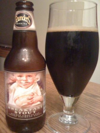 Founders Brewing Breakfast Stout with coffee chocolate and oatmeal