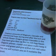 128. Hopworks Urban Brewery – Organic Rise Up Red Draft