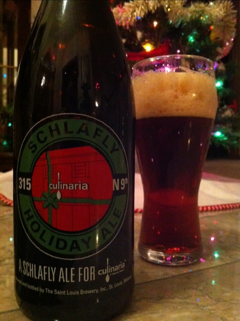 St Louis Brewery Schlafly Holiday Ale Culinaria
