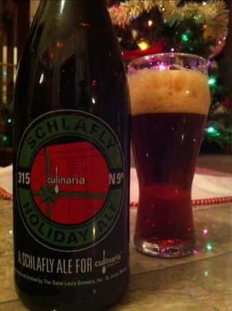 St. Louis Brewery Schlafly Holiday Ale Culinaria