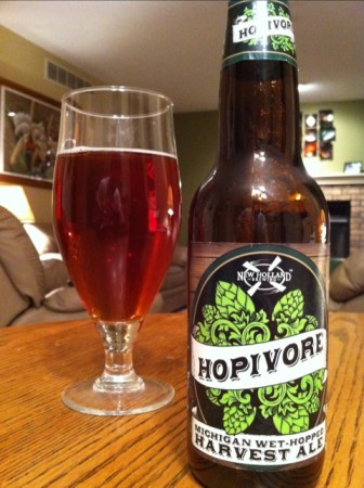 New Holland Hopivore Michigan wet hopped harvest ale