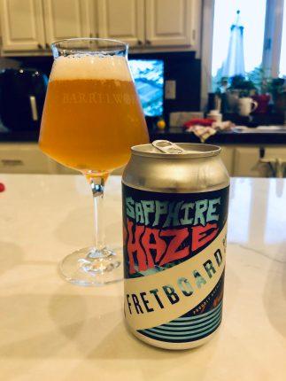 949. Fretboard Brewing - Sapphire Haze Hazy IPA