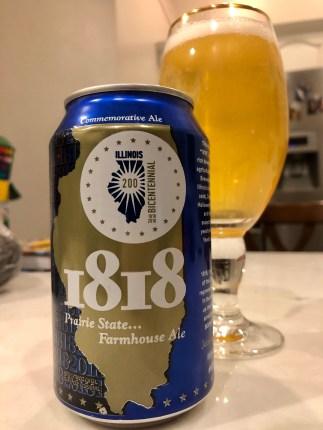 926. Hand of Fate - 1818 Prairie State Farmhouse Ale