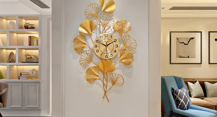 Luxury Gold Plated Wall Clock for Executive Homes