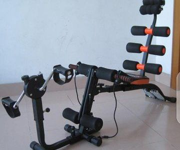 SIX PACK WONDER CORE EXERCISE MACHINE WITH bicycle PEDAL