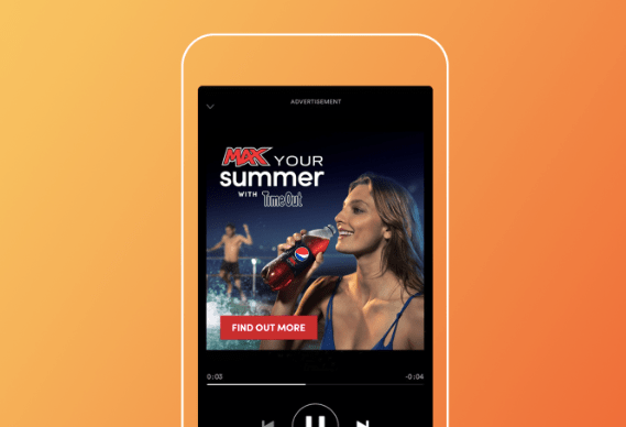 example of Pepsi campaign for audio personalization