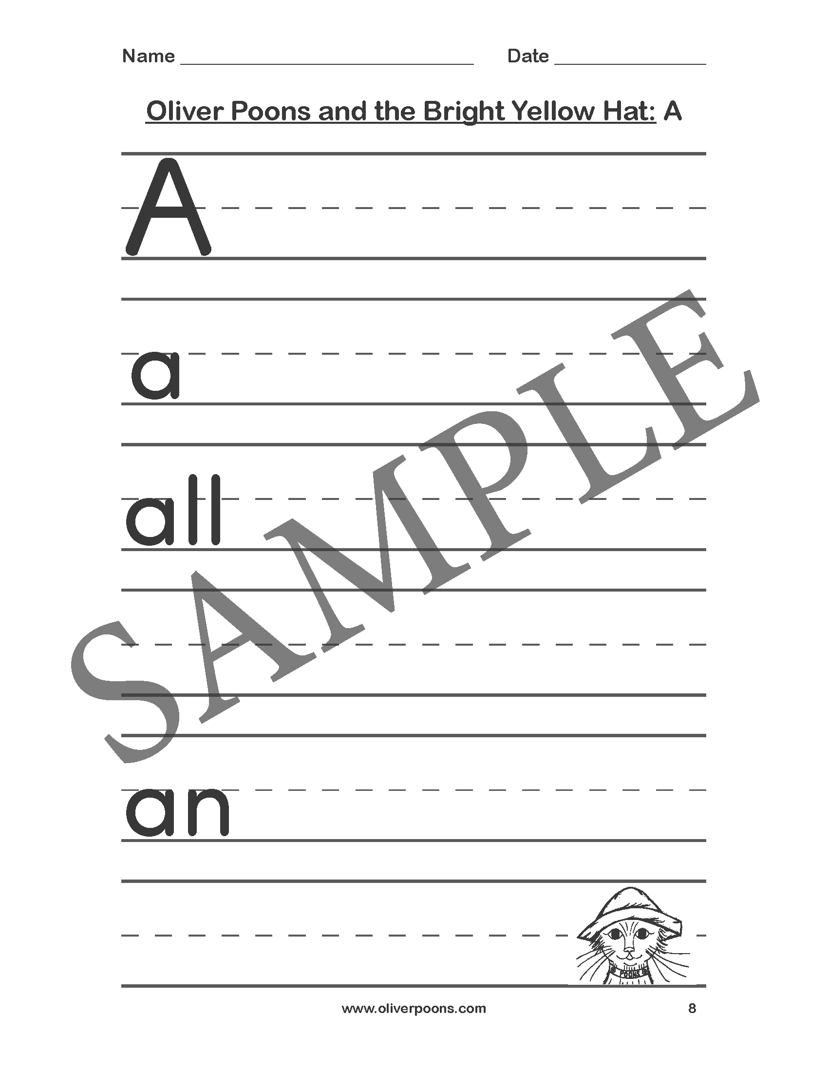 Oliver Poons Worksheets And Activities Pre K Through Grade 2