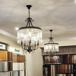 WorldWide Lighting Flemish Brass Crystal Chandelier