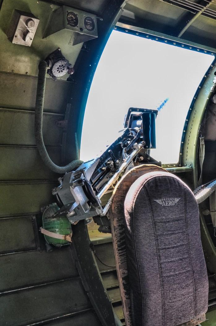 Port side waist gun 0 .50 Caliber Browning