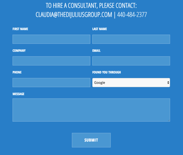 Creative website design uses online forms