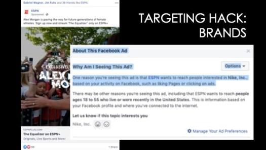 Targeting audiences on facebook-branding